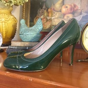 KATE SPADE Kelley Patent Leather Brogue Heel Sz.10